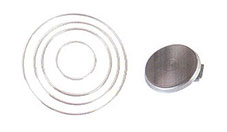 Stainless steel heating plate with decorative ring